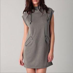 T Alexander Wang Slub Double Kit Hoodie Dress